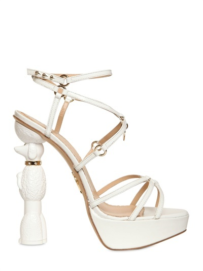Charlotte Olympia 140mm Cherie Poodle Patent Sandals