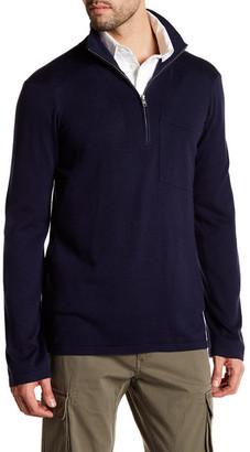 GANT Zipped Mock Neck Sweater $175 thestylecure.com