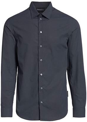 Emporio Armani Mini-Geometric Cotton Shirt