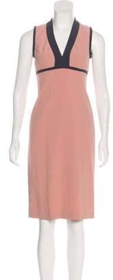 Narciso Rodriguez V-Neck Knee-Length Dress