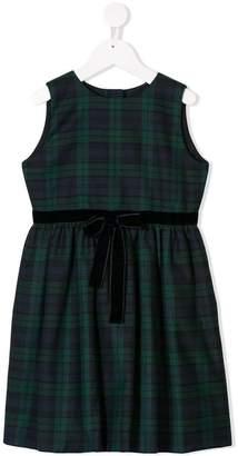 Oscar de la Renta Kids plaid bow detail dress