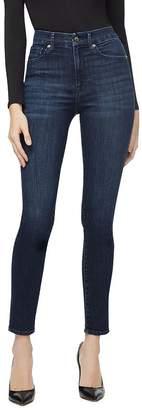 Good American Good Waist Rivet-Detail Skinny Jeans in Blue284