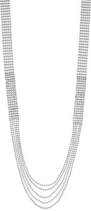 Vera Wang Simply Vera Simulated Crystal Long Multi Strand Necklace