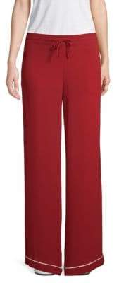Valentino Drawstring Silk Wide-Leg Pants