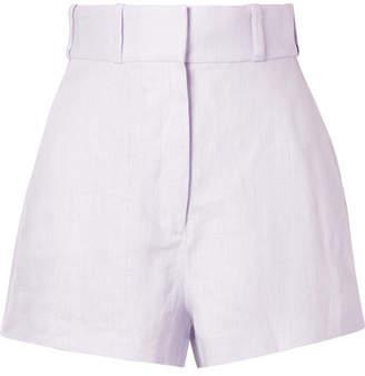 05cea61243b Zimmermann Ninety-six Racer Linen Shorts - Lavender