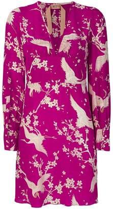 No.21 crane print dress