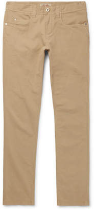 Loro Piana Slim-Fit Stretch-Cotton Trousers - Men - Beige