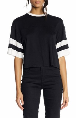 Women's Kendall + Kylie Double Stripe Crop Tee $75 thestylecure.com