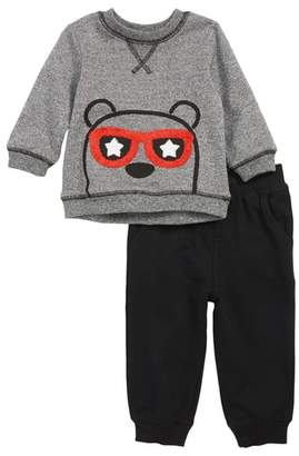 Little Me Bear Sweatshirt & Jogger Pants Set