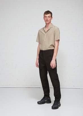 Deveaux Washed Cotton Linen Architect Pant