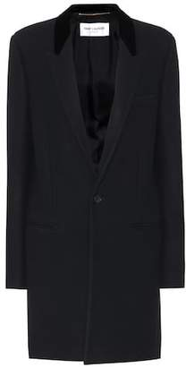 Saint Laurent Wool-blend coat