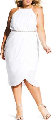 City Chic In Love Faux Wrap Dress
