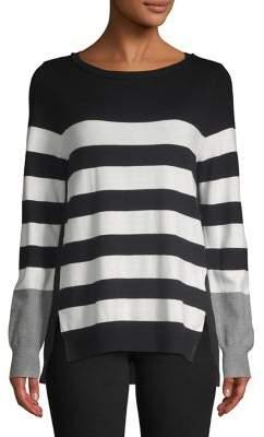 Isaac Mizrahi IMNYC Striped Colorblock Pullover