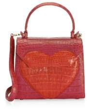 Nancy Gonzalez Mini Crocodile Lily Heart Tote