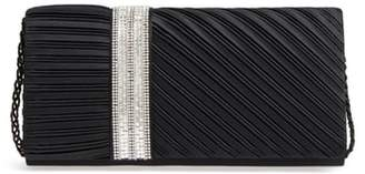 Nina Daylie Pleated Satin Clutch