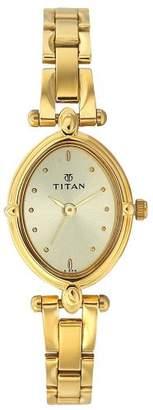 Titan Karishma Analog Champagne Dial Women's Watch - NC2419YM02