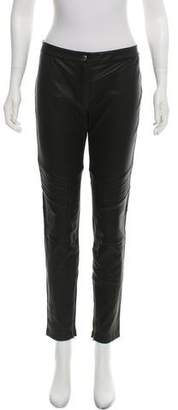 Belstaff Mid-Rise Leather Pants w/ Tags
