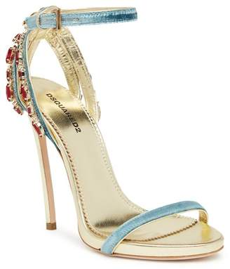 DSQUARED2 Jeweled Stiletto Sandal