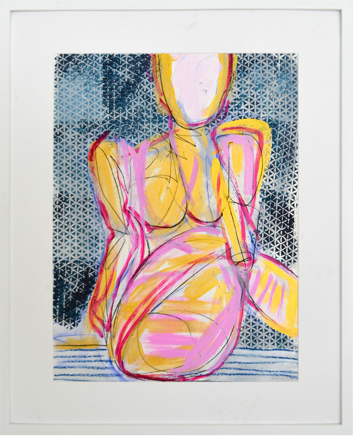 """Pink & Blue Nude"" by Allison Meyler"
