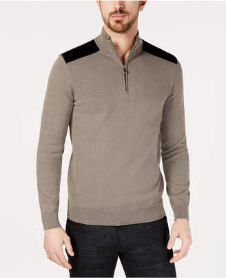 INC International Concepts I.N.C. Men's Future Mock-Neck Knit Sweater, Created for Macy's