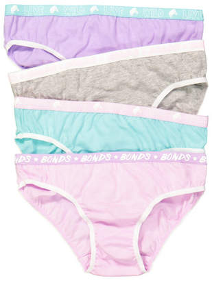 Bonds Girls Fun Pack Bikini 4 Pack