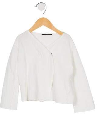 Album di Famiglia Girls' Long Sleeve Knit Cardigan