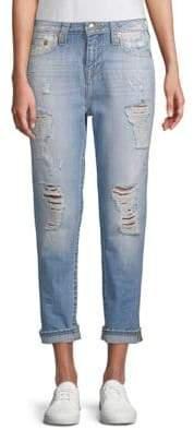 True Religion Distressed Boyfriend Fit Jeans