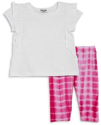 Splendid Girls' Ruffled Top & Tie-Dyed Leggings Set - Baby