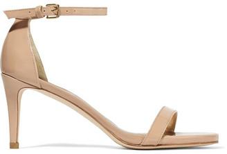 Stuart Weitzman - Nunaked Patent-leather Sandals - IT39.5 $400 thestylecure.com