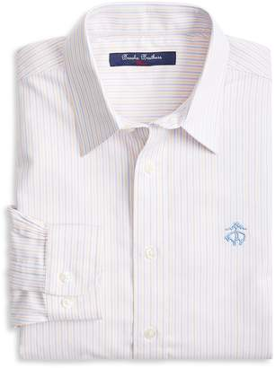 Brooks Brothers Boys' Non-Iron Striped Oxford Sport Shirt