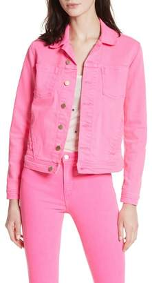 L'Agence Celine Slim Denim Jacket