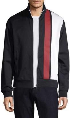 Prada Linea Rossa Men's Stripe Cotton Zip-Up