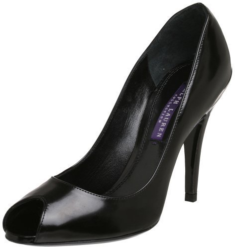 Ralph Lauren Collection Women's Ranna Peep-Toe Pump