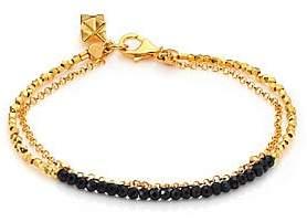 Astley Clarke Women's Biography Black Spinel Beaded Friendship Bracelet