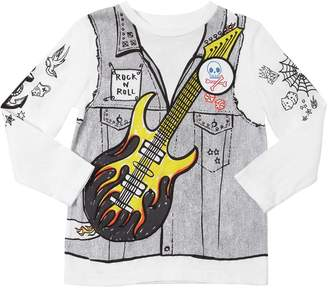 Stella McCartney Long Sleeve Rock N Roll Jersey T-Shirt