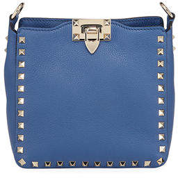 ee2faefbd6 Valentino Rockstud Mini Vitello Stampa Leather Hobo Bag