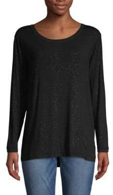 Tomas Maier Long-Sleeve Scoopneck Tee