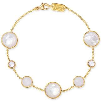 Ippolita 18K Yellow Gold Lollipop Clear Quartz, White Moonstone & Clear Quartz over Mother-Of-Pearl Seven-Stone Link Bracelet
