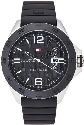 Tommy Hilfiger 1791203 Black & Silver-Tone Cody Watch