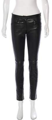 Barbara Bui Leather Skinny Pants