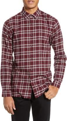 Theory Menlo Standard Fit Plaid Sport Shirt