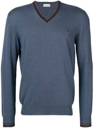Etro v-neck logo sweater
