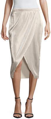 BELLE + SKY Woven Wrap Skirt-Petite