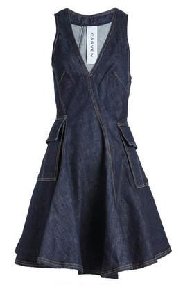 Carven Denim Mini Dress