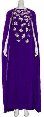 Oscar de la Renta 2017 Embellished Silk Dress