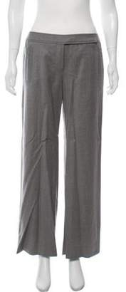 Valentino Mid-Rise Wide Leg Pants Grey Mid-Rise Wide Leg Pants