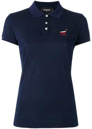 DSQUARED2 cigarette logo polo shirt