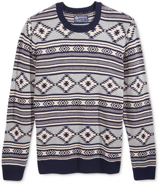 American Rag Men's Chalet Geo Sweater, Only at Macy's $40 thestylecure.com