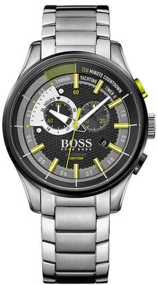HUGO BOSS Men&s Regatta Chronograph Sport Bracelet Watch $555 thestylecure.com