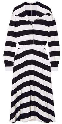 Calvin Klein Striped Stretch-crepe Midi Dress
